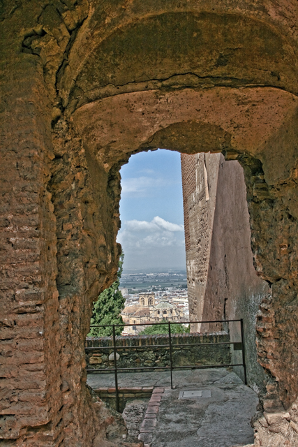 the cathedral from the Alcazaba