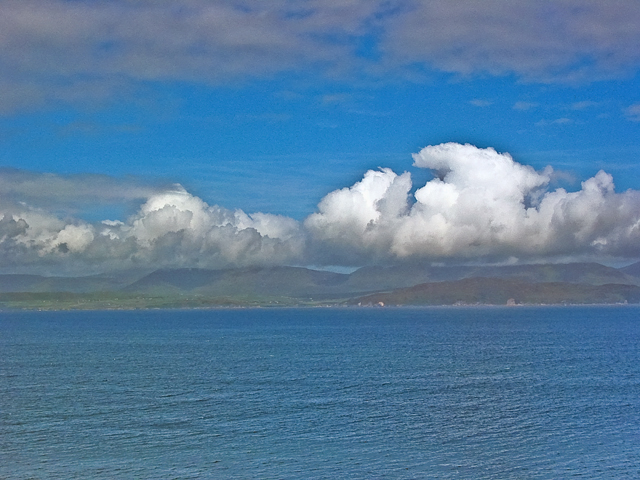 We could see the Dingle Peninsula across the Bay.