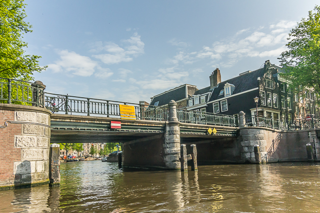 One of more than xx bridges in Amsterdam.