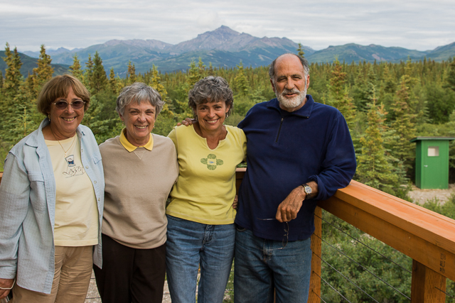 My three sisters and Dennis at the Lozano cabin in Healy, 2008.