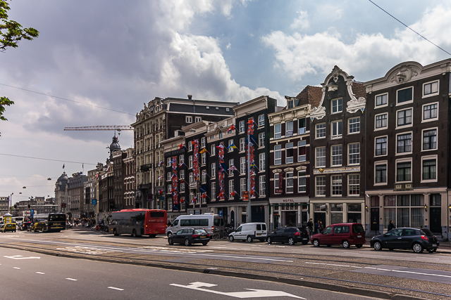 A sample of Dutch architecture across from the train station.
