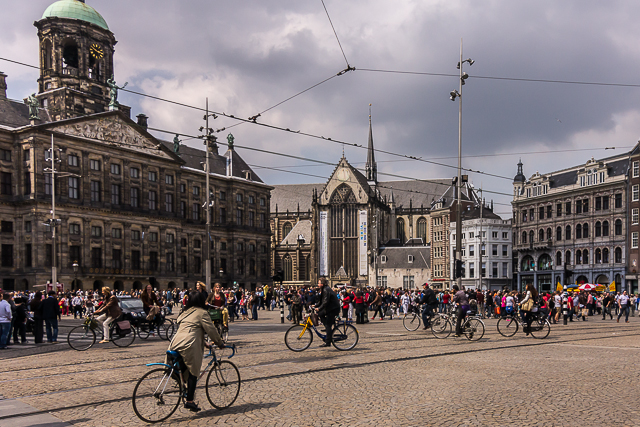 The old Town Hall was converted into the Royal Palace by Napoleon's brother. Queen Beatrix prefers to live in her palace at the Hague, however, and only stays here three or four days a year.