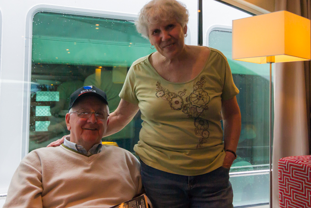 We met this charming couple from Ontario on the bus trip to Lucerne and Mt Titlis a couple of days before our cruise.