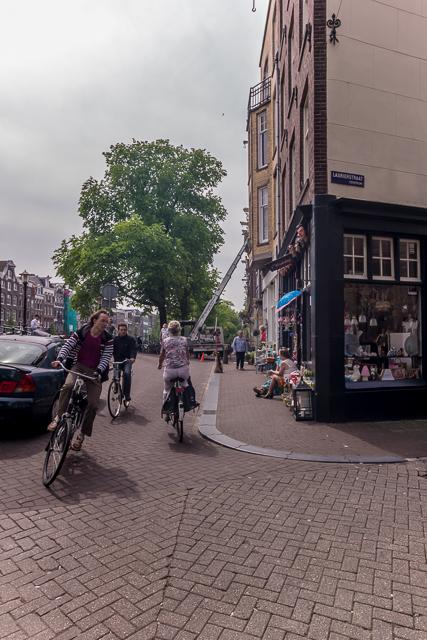 Number one hazard for pedestrians in Amsterdam: bikes!