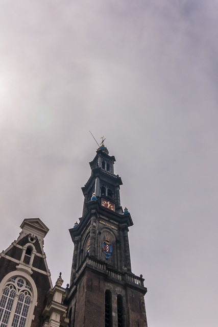 Westerkerk is just a few doors down from the Anne Frank House on Prinsengracht.