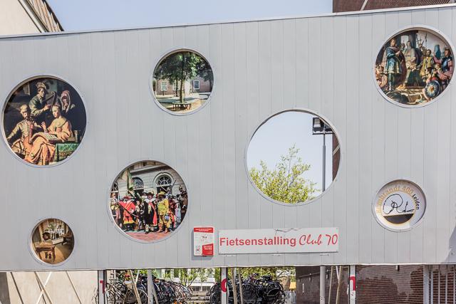 Leiden publicity near Visitor Center.
