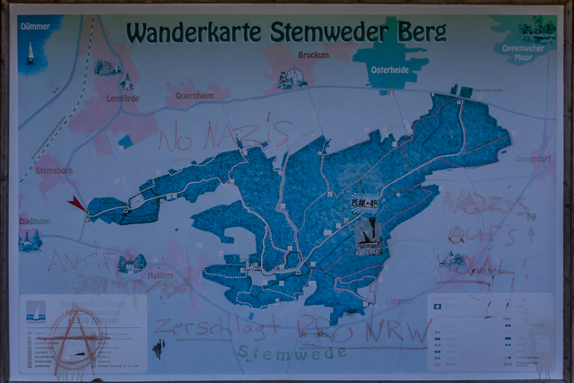 Map of Stemwede which is north of the first photo. Stemshorn and Dielingen are on the left. To the east of Stemwede is the city of Espelcamp which didn't exist until after World War II. It started out as a refuge camp for displaced Germans after the war and has now a population of