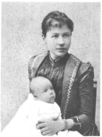 Johanna van Gogh-Bonger and her son Vincent who was born about six months before his Uncle Vincent died.