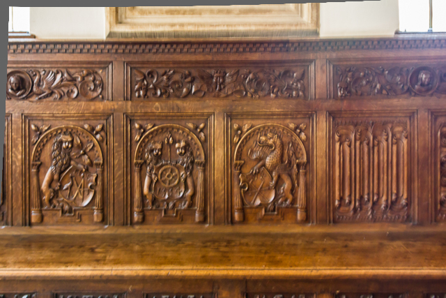 Detail of woodwork in the Treaty Room.