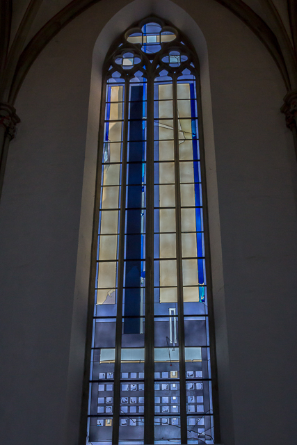Stained glass window by 2oth century artist Johannes Streiter.