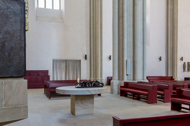 Last supper table and sculpture by Hans Freiber.