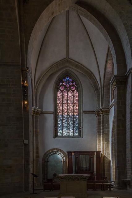 The North Transept and choir organ.