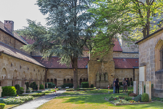 Cloister and courtyard.