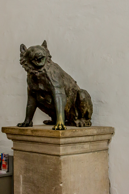 This bronze Roman she-wolf in the chapel's entrance dates from the 2nd century.