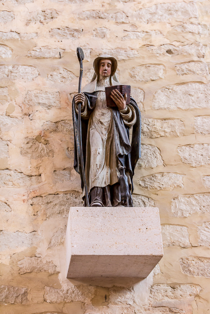 Sainte Gertrude, the great great great aunt of Charlemagne.