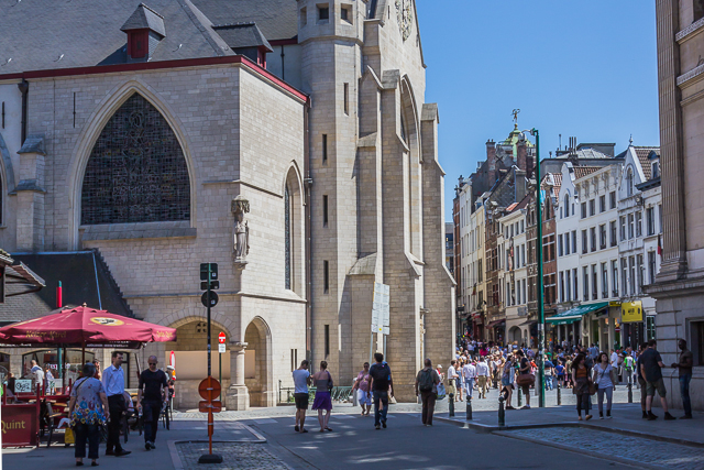 You have to zig-zag up Rue au Beurre when you get to St Nicholas Church.