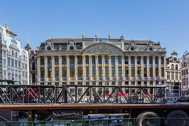 The buildings on the east side were built according to  Maximilian II Emanuel's desire for uniformity.