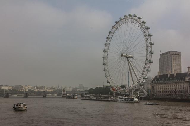 The London Eye from Westminster Bridge.