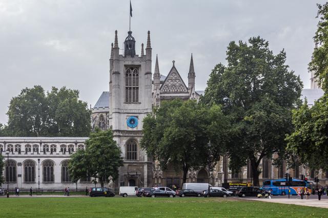 St Margaret's Church adjoins Parliament Square.