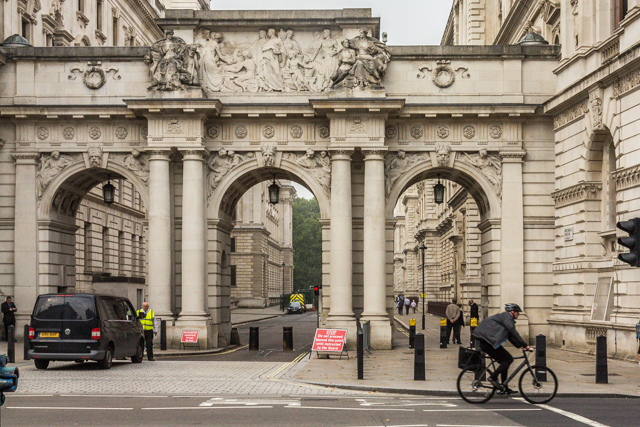 Arch over King Charles Street.