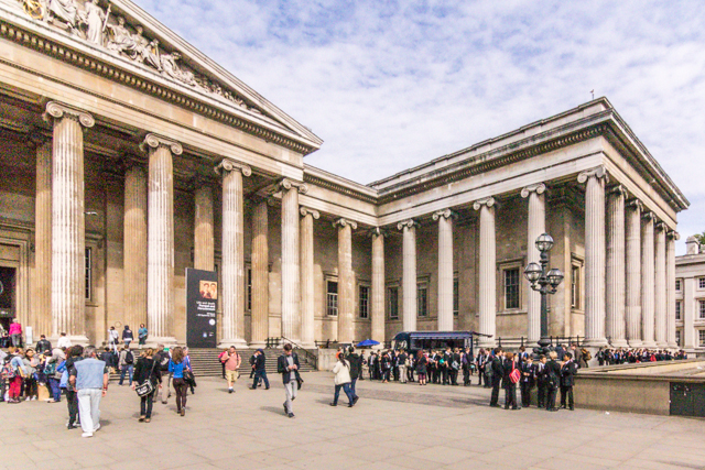 The British Museum (Great Russell Street entrance).