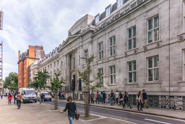 University College London on Euston Road.