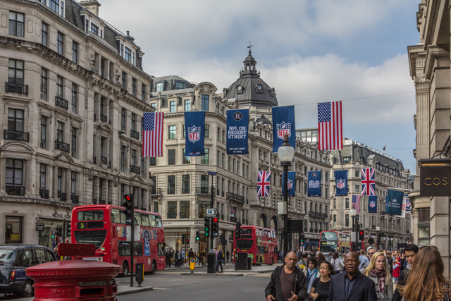 Another view of Regent Street during our West End Walk a few hours before the game on Sunday.