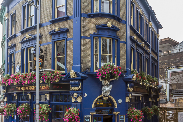 The Shipwrights Arms near City Hall, south of Tower Bridge.