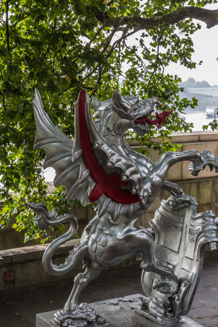 Silver Dragons mark the boundaries of the original City of London.