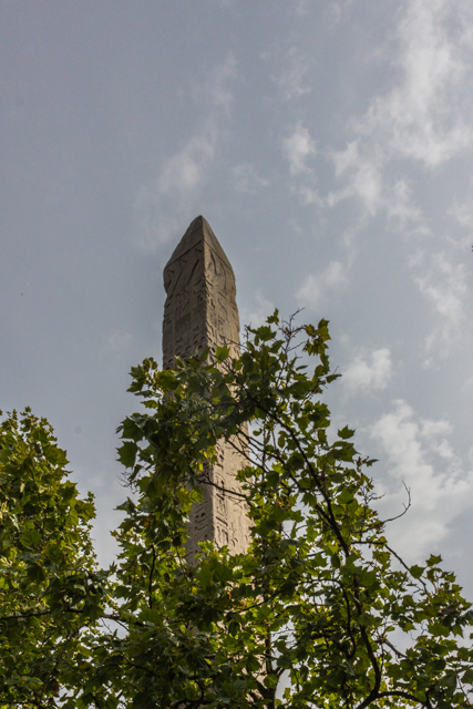 Cleopatra's Needle was built more than a thousand years before Cleopatra was born. There's a twin obelisk in New York.