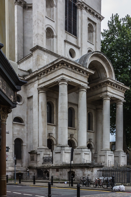 I passed Christ Church on Commercial Street on the way back to Spitalfields Market.