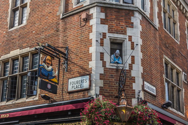 Shakespeare's Head on the corner of Foubert's Place and Great Marlborough Street.  A Wetherspoon pub.