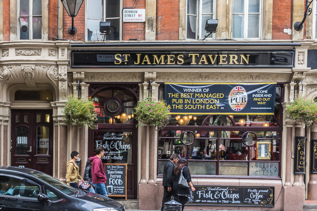St James Tavern near Piccadilly Circus.