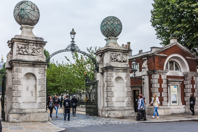 Entrance to Old Royal Naval College from King William Walk.