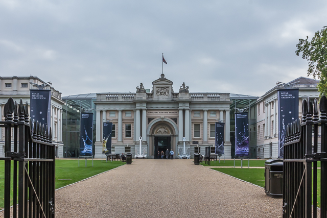 The main entrance to the National Maritime Museum.