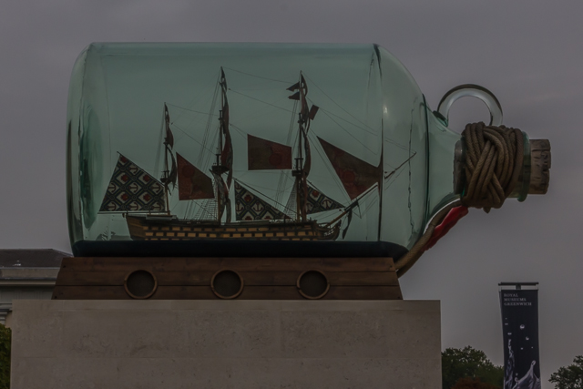 Possibly the world's largest ship in a bottle