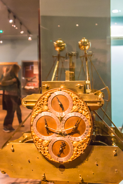 One of Harrison's chronometers on display.