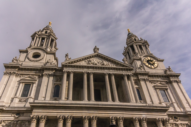 West facade, St Paul's Cathedral.