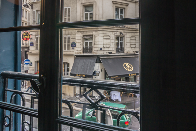 From our window we could see the Il Suppli ristorante across the street next to the Hotel Louis II.