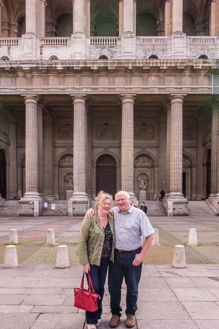 Our Irish cousins Henry and Geraldine in front of Saint-Sulpice.