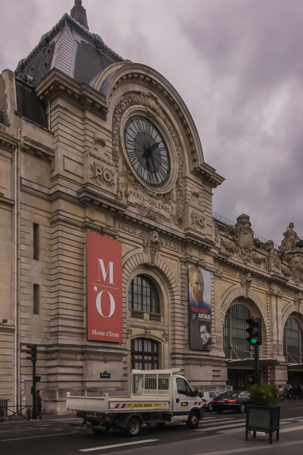 The Musée d'Orsay and one of its clocks.
