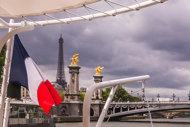 On our cruise up the river Seine.