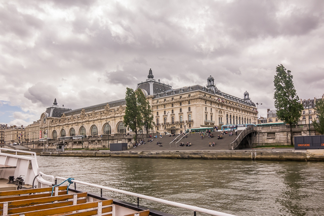 View of the Musée d'Orsay from our cruise down the Seine the day after visiting the museum.