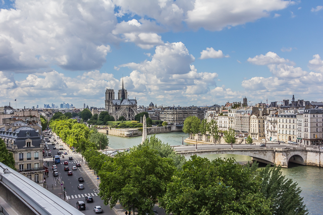 View of Notre Dame from the roof of the AWI. Ile Saint-Louis is on the right.