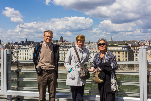 Our friends George and Jacqueline and my wife on the roof of the AWI.