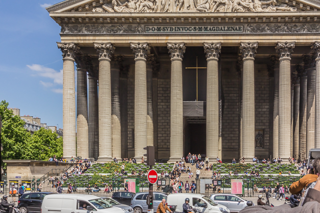 Passing by La Madeleine on our sightseeing bus tour.