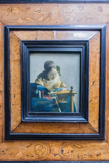 The Lacemaker by Jan Vermeer c. 1669-71.