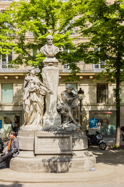 Monument to Auguste Comte, philosopher and founder of the science of sociology.