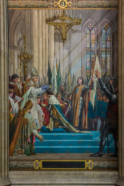 The Coronation of Charles VII in Reims by L