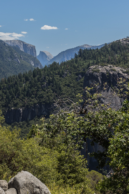 View of Half Dome as we approach the valley.